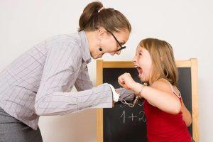 строгий учитель может привить страх к числам